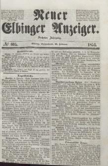 Neuer Elbinger Anzeiger, Nr. 605. Sonnabend, 11. Februar 1854