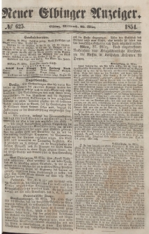 Neuer Elbinger Anzeiger, Nr. 625. Mittwoch, 29. März 1854