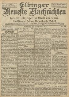 Elbinger Neueste Nachrichten, Nr. 208 Donnerstag 5 September 1912 64. Jahrgang