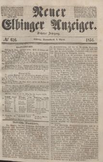 Neuer Elbinger Anzeiger, Nr. 626. Sonnabend, 1. April 1854