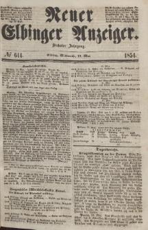 Neuer Elbinger Anzeiger, Nr. 644. Mittwoch, 17. Mai 1854