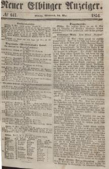Neuer Elbinger Anzeiger, Nr. 647. Mittwoch, 24. Mai 1854