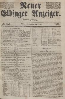 Neuer Elbinger Anzeiger, Nr. 653. Sonnabend, 10. Juni 1854