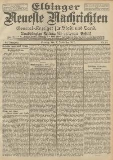 Elbinger Neueste Nachrichten, Nr. 211 Sonntag 8 September 1912 64. Jahrgang