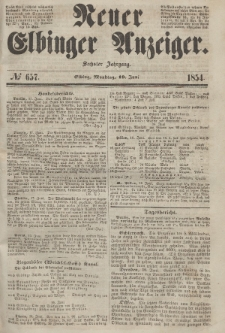 Neuer Elbinger Anzeiger, Nr. 657. Montag, 19. Juni 1854