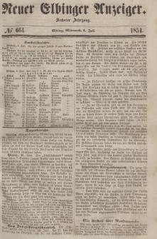 Neuer Elbinger Anzeiger, Nr. 664. Mittwoch, 5. Juli 1854