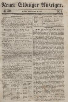 Neuer Elbinger Anzeiger, Nr. 665. Sonnabend, 8. Juli 1854