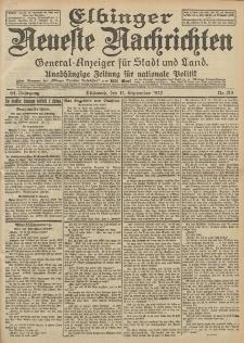 Elbinger Neueste Nachrichten, Nr. 213 Mittwoch 11 September 1912 64. Jahrgang