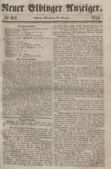 Neuer Elbinger Anzeiger, Nr. 687. Montag, 28. August 1854