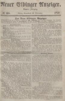 Neuer Elbinger Anzeiger, Nr. 698. Sonnabend, 23. September 1854