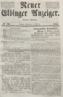 Neuer Elbinger Anzeiger, Nr. 703. Mittwoch, 4. Oktober 1854