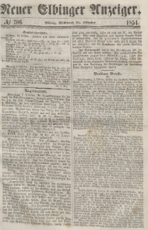 Neuer Elbinger Anzeiger, Nr. 706. Mittwoch, 11. Oktober 1854
