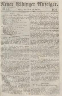 Neuer Elbinger Anzeiger, Nr. 707. Sonnabend, 14. Oktober 1854