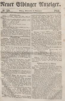 Neuer Elbinger Anzeiger, Nr. 718. Mittwoch, 8. November 1854