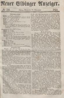 Neuer Elbinger Anzeiger, Nr. 721. Mittwoch, 15. November 1854
