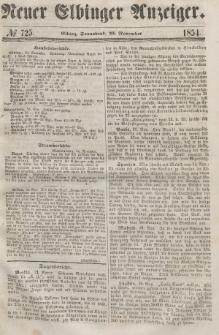Neuer Elbinger Anzeiger, Nr. 725. Sonnabend, 25. November 1854