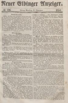 Neuer Elbinger Anzeiger, Nr. 726. Montag, 27. November 1854