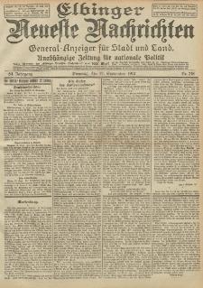 Elbinger Neueste Nachrichten, Nr. 218 Dienstag 17 September 1912 64. Jahrgang