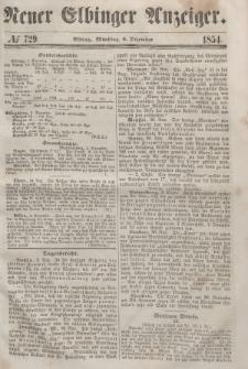 Neuer Elbinger Anzeiger, Nr. 729. Montag, 4. Dezember 1854