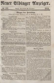 Neuer Elbinger Anzeiger, Nr. 737. Sonnabend, 23. Dezember 1854