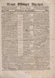 Neuer Elbinger Anzeiger, Nr. 1793. Mittwoch, 20. November 1861