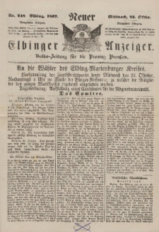 Neuer Elbinger Anzeiger, Nr. 248. Mittwoch, 23. Oktober 1867