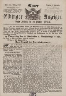 Neuer Elbinger Anzeiger, Nr. 255. Dienstag, 1. November 1870