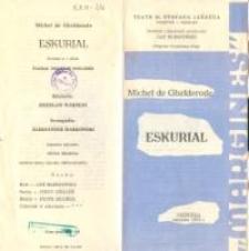 Eskurial – program teatralny