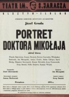 Portret doktora Mikołaja - afisz