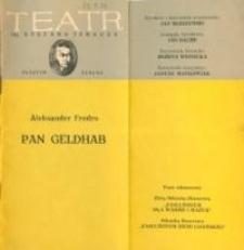 Pan Geldhab – program teatralny