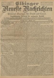 Elbinger Neueste Nachrichten, Nr. 230 Dienstag 1 Oktober 1912 64. Jahrgang