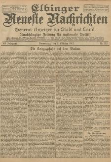 Elbinger Neueste Nachrichten, Nr. 232 Donnerstag 3 Oktober 1912 64. Jahrgang