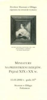 Miniatury na przestrzeni dziejów – pejzaż XIX i XX w. – zaproszenie na wystawę
