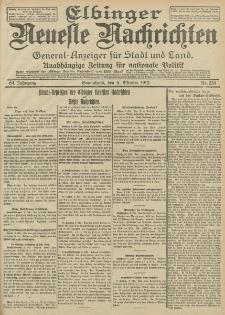 Elbinger Neueste Nachrichten, Nr. 234 Sonnabend 5 Oktober 1912 64. Jahrgang