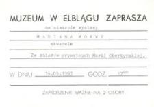 Akwarele Mariana Mokwy – zaproszenie na wystawę