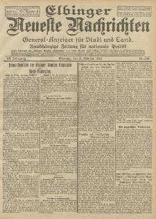 Elbinger Neueste Nachrichten, Nr. 235 Sonntag 6 Oktober 1912 64. Jahrgang