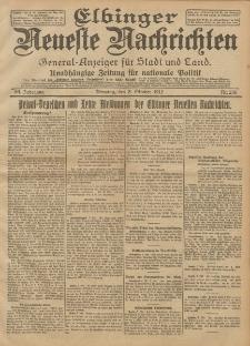 Elbinger Neueste Nachrichten, Nr. 236 Dienstag 8 Oktober 1912 64. Jahrgang