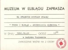 Truso. Elbląg - archeologia olśniewa - zaproszenie na wystawę