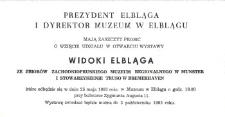 Widoki Elbląga – zaproszenie na wystawę