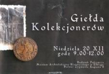 Giełda Kolekcjonerów w Elblągu - 20.12.2000 r.