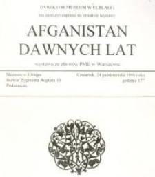 Afganistan dawnych lat – zaproszenie na wystawę