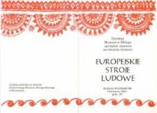Europejskie stroje ludowe – zaproszenie na wystawę