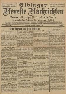 Elbinger Neueste Nachrichten, Nr. 242 Sonntag 13 Oktober 1912 64. Jahrgang