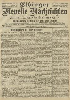 Elbinger Neueste Nachrichten, Nr. 243 Montag 14 Oktober 1912 64. Jahrgang