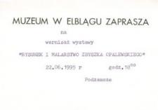 Rysunek i malarstwo Zbyszka Opalewskiego – zaproszenie na wystawę