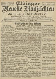 Elbinger Neueste Nachrichten, Nr. 245 Mittwoch 12 Oktober 1912 64. Jahrgang