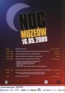 Noc muzeów – ulotka z programem
