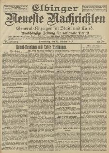 Elbinger Neueste Nachrichten, Nr. 246 Donnerstag 17 Oktober 1912 64. Jahrgang