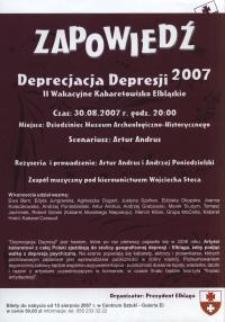 Deprecjacja Depresji - 30.08.2007 r.