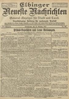 Elbinger Neueste Nachrichten, Nr. 248 Sonnabend 19 Oktober 1912 64. Jahrgang